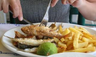 Směs smažených ryb