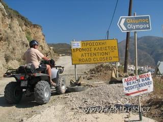 Uzavřená cesta na Olympos