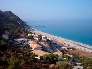 Pohled na pláž Kathisma