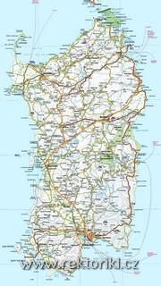 Mapa Sardinie